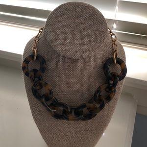 JCREW tortoise shell necklace